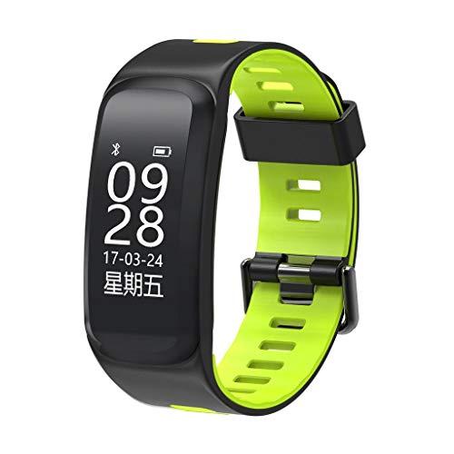 AMCER Fitness-Aktivität Tracker, Smart Pulsmesser Uhr, wasserdicht Sport Armband, Wireless Bluetooth Pedometer Armband für Android und iOS, Schrittzähler und Kalorienzähler Green