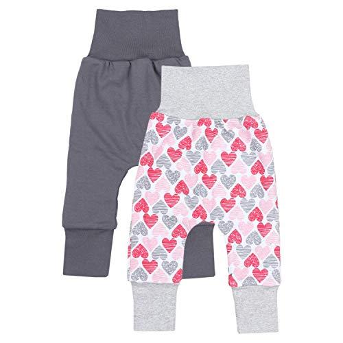 TupTam Baby Mädchen Mitwachshose 2er Pack, Farbe: Farbenmix 3, Größe: 92/98 -