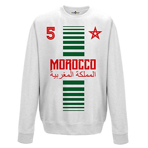 KiarenzaFD Crewneck Pullover Sweatshirt Manner National Sport Marocco Marokko 5 Fussball Sport Afrika Stella 2 M
