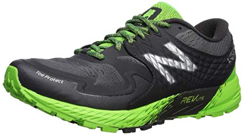 New Balance Summit KOM, Scarpe da Trail Running Uomo, Nero (Phantom/RGB Green/Silver Metallic GG), 44 EU