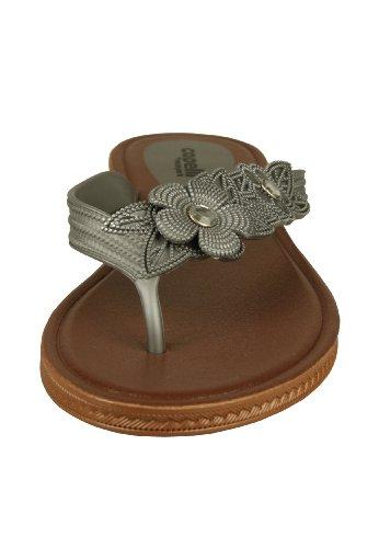 Capelli New York Zehensandale 'Blossom' Silver