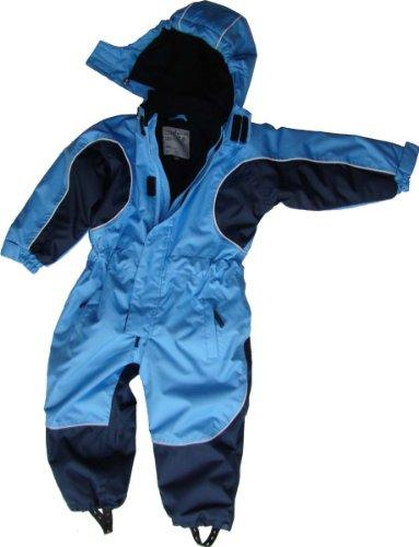 Maylynn Outdoor Kuscheliger Schneeanzug Skianzug hellblau atmungsaktiv und wasserdicht 5000mm, Größe:116