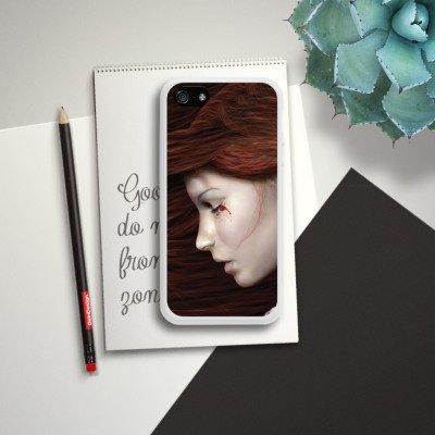 Apple iPhone 5 Housse Étui Silicone Coque Protection Femme Femme Sang Housse en silicone blanc