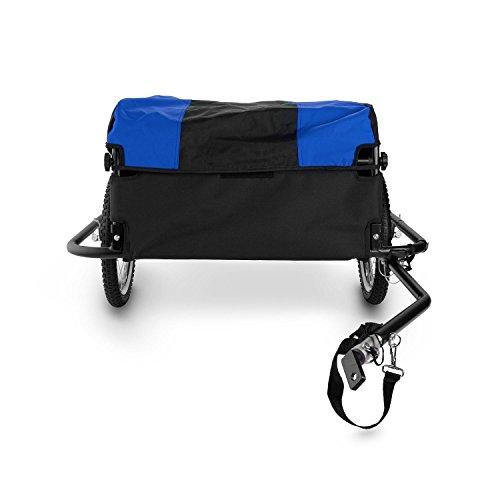 DURAMAXX Mountee • Fahrradanhänger • Lastenanhänger • Handwagen • mit Hochdeichsel • Transportbox mit 130 Liter Volumen • Tragkraft: max. 60 kg • Kugel-Kupplung für Fahrräder mit 26'' - 28'' • pulverbeschichteter Stahlrohrrahmen • blau - 3