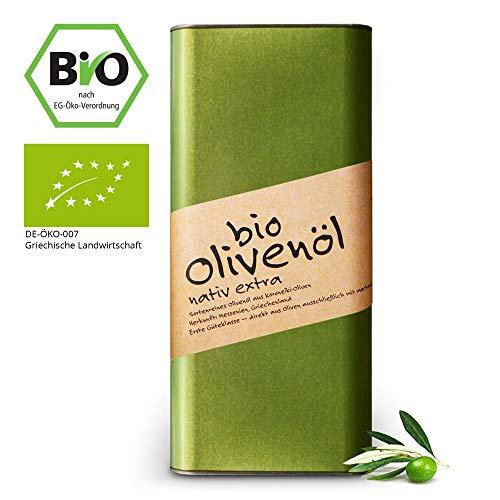 Oelea Griechisches Bio-Olivenöl kaltgepresst nativ extra im 5 Liter Kanister - erntefrisch & naturbelassen