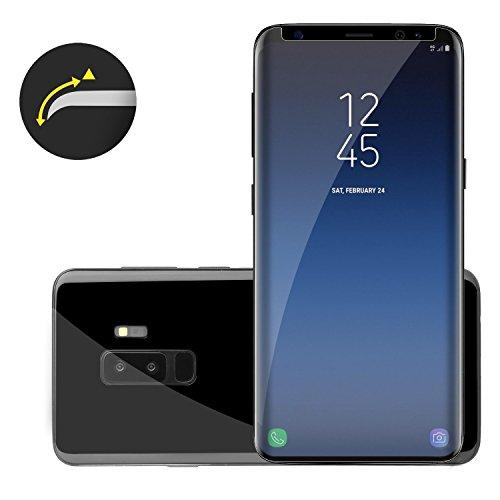 VSHOP® Galaxy S9+ Ecran Film Protecteur Verre Trempé, Couverture Complète 3D Anti-Empreintes Digitales pour Samsung Galaxy S9 Plus
