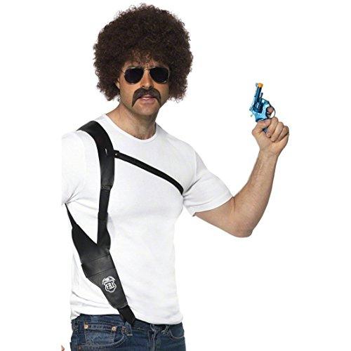 Pistolenholster Pistolenhalfter Polizei Holster Gangster Halfter als Kostüm Zubehör