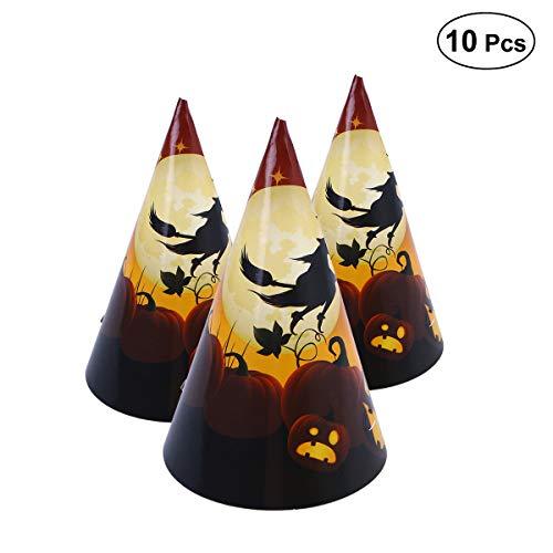 Bestoyard cappelli da strega halloween props costumi halloween bambini decorazioni halloween zucca 10 pezzi