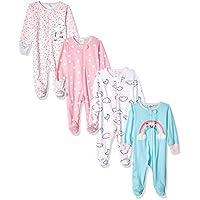 Gerber Baby Girls' 4-Pack Sleep N' Play, cloudy, 3-6 Months