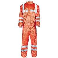 Beeswift tbs500hvxl Mono traje de caldera, Dupont Tyvek, Modelo 500hv 125A, Hi Viz visibilidad Cat III, Gort tipo 5/6, desechables, X-Large
