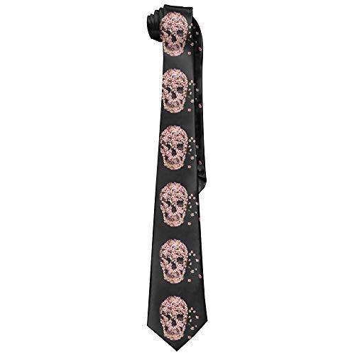 False warm warm Cherry Blossom Skull Men's Tie Long Necktie Skinny Neckwear Silk (Cherry Blossom, Doll)