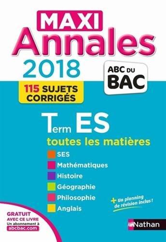 Maxi Annales ABC du BAC Term ES 2018