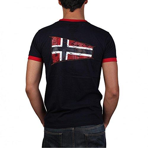 Geographical Norway Jibraltar Herren Rundhals Shirt Freizeit T-Shirt Dunkelblau