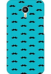 AMEZ designer printed 3d premium high quality back case cover for Meizu M2 Note (sky blue moustache muchi beard)