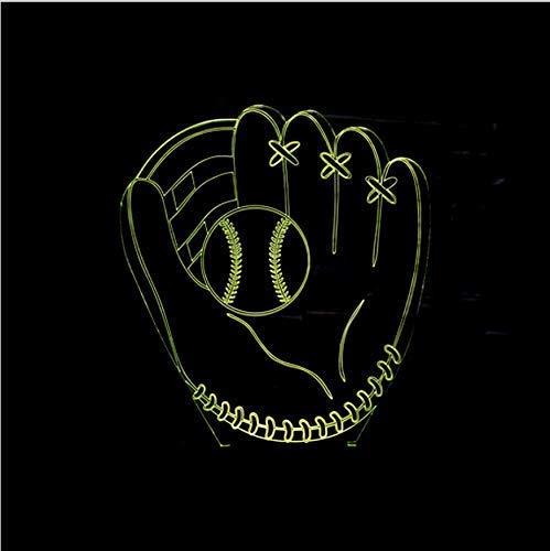 LXD Haushalt acryl nachtlicht 7 farben 3d led lampe baseball handschuhe acryl led usb lampe touch zimmer tisch schreibtisch kreative nachtlicht nacht dekoration