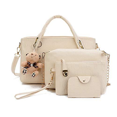 (Pahajim Damen Handtaschen Handtaschen Leder Frauen Handtaschen Set 5 teiliges Fashion Rucksack Damenhandtasche tasche taschen günstig beuteltasche günstige handtaschen)