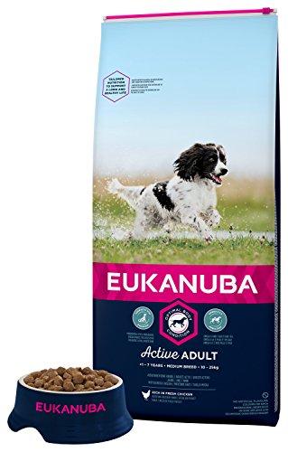 Eukanuba Puppy Medium Breed Trockenfutter (für Welpen mittlerer Hunderassen, Premiumnahrung mit Huhn), 15 kg Beutel - 2