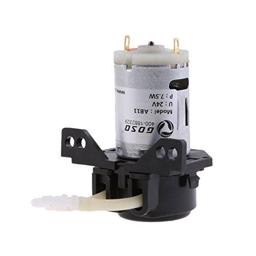 sharplace DC 12V/24V Lab Dosierpumpe peristaltischen Head & Anschluss chemischen Wasser Liquid 0~ 100ml/min für Aquarium Lab analytical Wasser -