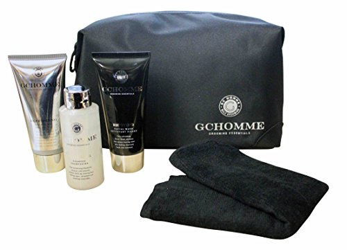 Grace Cole Homme Gift Set Uomo 5 -pc : Shower Gel Shampoo viso Wah flanella Bag
