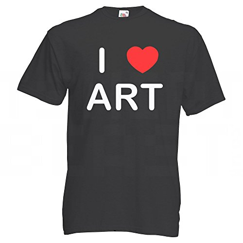 I love Art - T Shirt Schwarz