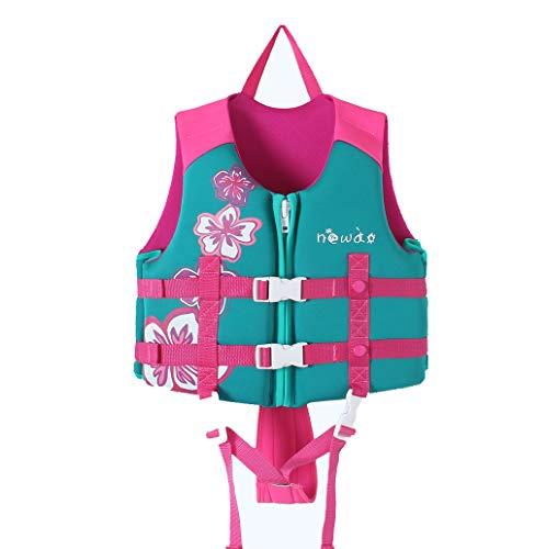 MLIAN Schwimmweste Kinder, Schwimmen Jacke für Jungen Mädchen Schwimmende Badeanzug Bademode Schwimmtraining (Pink, S(1-3 Jahr alt)