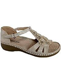 e8bdcc707 Cushion Walk Ladies Wedge Heel Slip ON Lightweight Summer Sandals Size 3-8