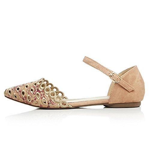 Balamasa, Chaussures Femme À Talon Abricot
