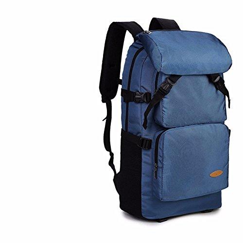 TBB-Reisetaschen große Kapazität Rucksack bergsteigen Tasche im Freien Blue trumpet