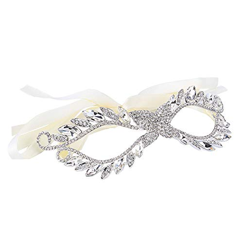 Halloween Maske Luxus Diamant Strass Elegant, Sexy Göttin, Laser Cut Strass Metallic Maskerade, Venezianische Party Karneval Party Maske Lady Party - Strass Muster Tanz Kostüm