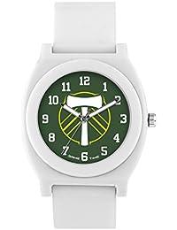 Game Time 'FAN' Quartz Plastic And Rubber Casual Watch, Color:White (Model: MLS-FNW-POR)