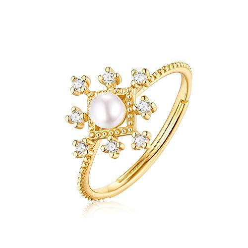 WANZIJING 4pcs Kristall Braut Hochzeit Set, Charm Gold Pearl Anhänger Sterling Silber Schmuck-Set für - Schmutz Billige Kostüm Schmuck