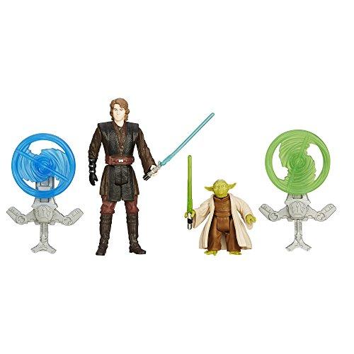 Star Wars Rache der Sith 3.75-Inch Wald Mission Anakin Skywalker und Yoda-figur (Doppelpack) thumbnail