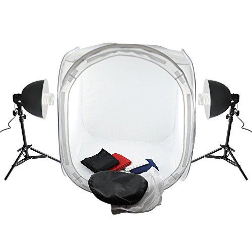 amzdeal-tente-de-photo-studio-cube-80cmx80cmx80cm-boite-de-lumiere-avec-2x-135w-ampoule-2x-lampe-alu