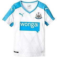 Puma para Hombre Camiseta de fútbol réplica de la Camiseta del Newcastle Alternativo Blanco White,