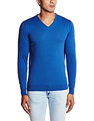 Peter England Mens T-Shirt (8907306795789_EKC51507176_XX-Large_Dark Blue and Blue)