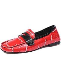 Angrousobiu Zapatos de Mujer y de Suave Cuero Light-Set pie Cuadrado de Pintura de Fondo Plano Solo Zapatos Zapatos...