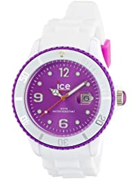 Ice-Watch Unisex-Armbanduhr ice-White Big weiß/violett Analog Quarz SI.WV.B.S.11