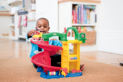 Image of Fisher-Price Little People Racin' Ramps Garage