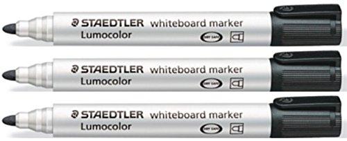 staedtler-lumocolor-black-bullet-tip-whiteboard-board-markers-3-pack-glass-porcelain-dry-wipe-fast-d