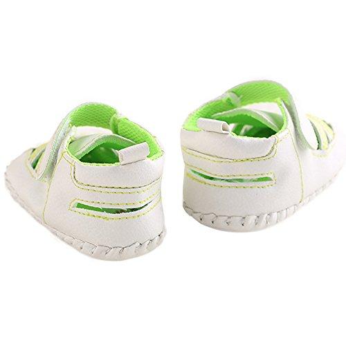 WAYLONGPLUS Baby-Kind-Jungen Prewalker Sneaker Sommer weiche Schuhe (Green Size 12) Grün