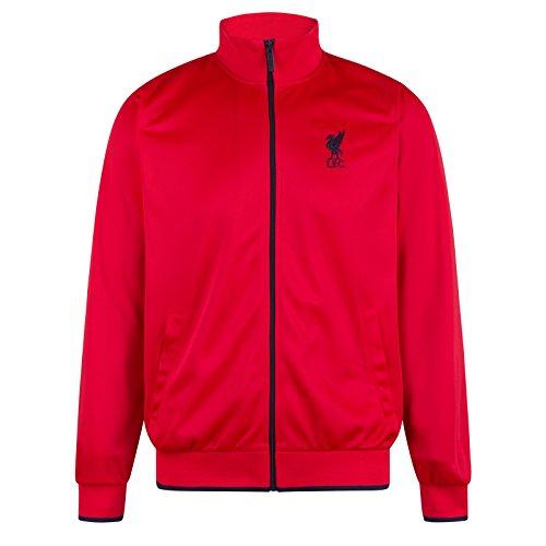 358d4c9a847f3 Liverpool FC - Chaqueta de Entrenamiento Oficial - para Hombre - Estilo  Retro - Rojo - LFC - XL