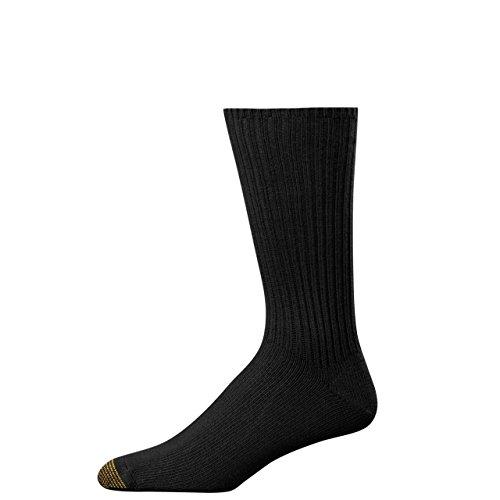 Gold Toe Herren Fluffies Baumwolle-Crew-Socken Gr. Einheitsgröße, Schwarz  - Herren-baumwoll-socken Gold Toe