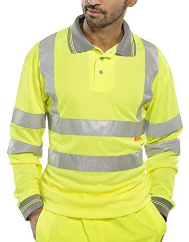 Hi-Vis gelb S Pique Polo Shirt Long Sleeve Saturn - B-gesehen -