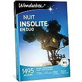 Wonderbox – Coffret Cadeau NUIT INSOLITE EN DUO – 1440 séjours insolites en yourtes, cabanes, tipis, roulottes pour 2 personnes