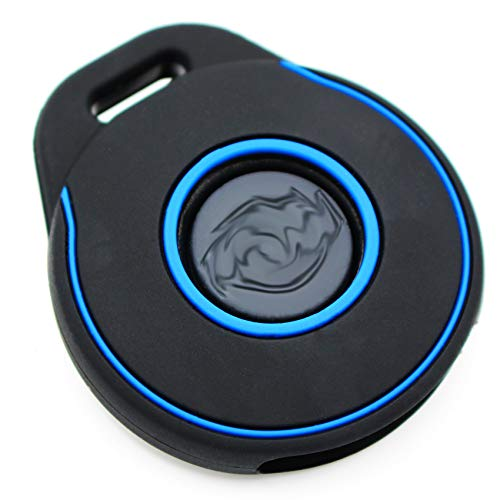 Motorcycle Key Case HAA Silicone Keyless Go Black Blue