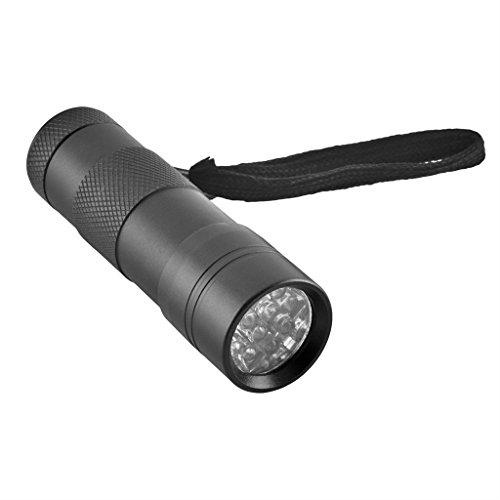 TP - UV LED Taschenlampe mit 12 LEDs inklusive Batterien