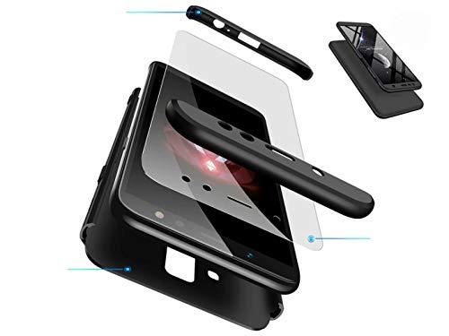 DYGG kompatibel mit hülle für Huawei Honor View 20/v20 hülle,360 Grad Schutz Schutzhülle Ultra dünn Soft PC Hartgummi handyhülle Case Cover + Displayschutzfolie - schwarz