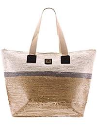 b05023a93de For Time Bolso Mujer estilo Destellos Bolsa de Tela Playa