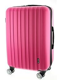 100% ABS Reisegepäck Koffer / Trolley, Handgepäck Grösse L, Serie Zosed, mit TSA schloss 8 Rädern und stop funktion