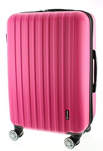 100% ABS Reisegepäck Koffer / Trolley, Handgepäck Grösse XL (75cm), Serie Zosed, mit TSA schloss 8 Rädern und stop funktion (Blau)